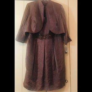 Jessica Howard Woman 2piece Alm Almond Dress Sz18w